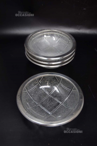 4 Glass Cups Prestige 14.5 Cm Amc Art 670