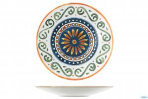 Linea Napoli Piatto Da Portata 28 cm Modello Capri Con Decorazioni Colorate Geometriche Casa Cucina