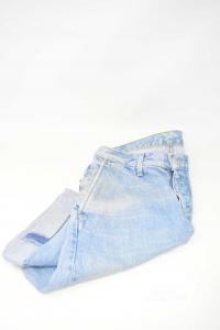 Bermuda In Jeans Donna Levi's Tg 27 Modello Alto I