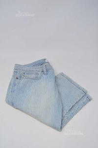 Bermuda Bambina Jeans Diesel A Righe Tg 12 Anni