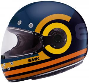 Casco integrale SMK RETRO RANKO Blu Arancio Giallo