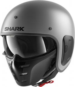 Casco jet Shark S-DRAK 2 BLANK MAT in fibra Antracite