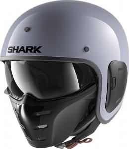 Casco jet Shark S-DRAK 2 BLANK in fibra Grigio