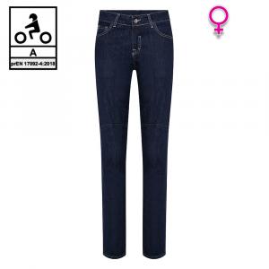 Jeans moto donna Carburo TORIN Lady CE Certificati con fibra aramidica Blu