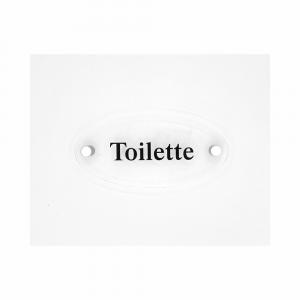 Cartello in plexiglass Plexline ellisse con scritta Toilette