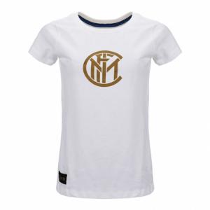 Inter maglietta manica corta donna XS S M L bianca