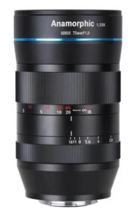 Lente Anamorfica E-Mount 75mm F1.8 1.33X