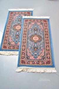 Pair Carpets Light Blue Rosa110x60 Cm