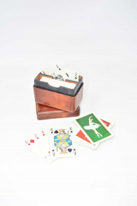 Playing Cards From Negro Depicting Dancer + Box Of Leather (cards Contate)