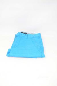 Pantaloni Uomo Calvin Klein Jeans Tg 28 Azzurri In Cotone