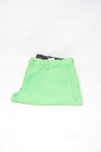 Bermuda Uomo Calvin Klein Jeans Verdi Tg 29 Cotone