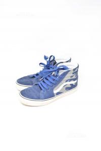 Scarpe Vans Blu Mimetiche N 38.5