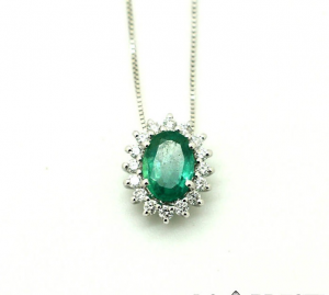 Collana Domenico Bertero con Smeraldo e Diamanti