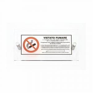 Cartello in plexiglass Plexline Vietato fumare con norma
