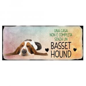 Placca in metallo cane Basset Hound