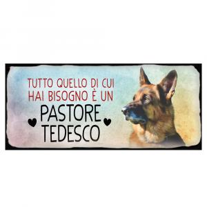 Placca in metallo cane Pastore tedesco
