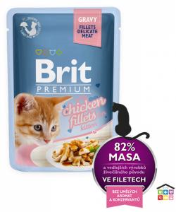 Brit Premium Cat Pouch con Filetti di Pollo in Salsa per Gattino