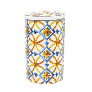 Barattolo porcellana Medicea H16 cm scatola regalo
