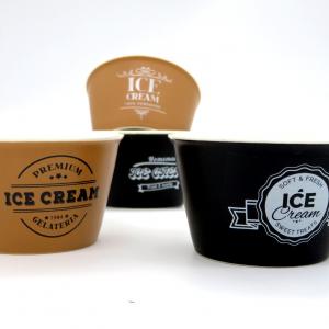 Scatola regalo 4 coppette gelato porcellana assortite