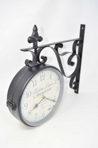 Watch Double Side,to Wall-hang Bistrò Leon Paris With Structure Iron 40x40 Cm Approx