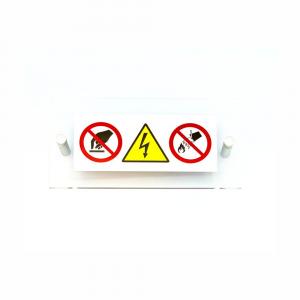 Cartello in plexiglass Plexline per quadri elettrici