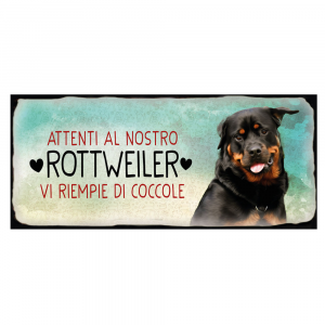 Placca in metallo cane Rottweiler