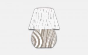 Lampada Design in legno traforato Estego cod. 2063