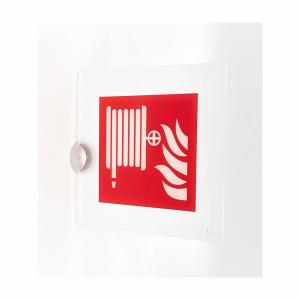 Cartello in plexiglass serie Avantgarde Lancia antincendio