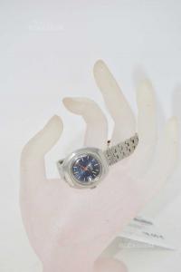 Watch Mechanical Monvis 17 Rubis Incabloc Background Blue