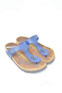 Slippers Birkenstock N° 35 Blue Dark Flip-flops