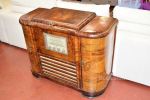 Cabinet Radio Irradio In Briar With Reader Vinyl Philips (from Provare)