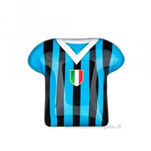 Magnete Maglietta T-Shirt Inter in vetro 5 cm - Bomboniera comunione bimbo