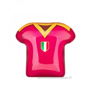 Magnete Maglietta T-Shirt Roma in vetro 5 cm - Bomboniera comunione bimbo