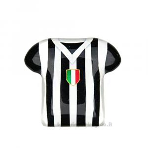 Magnete Maglietta T-Shirt Juventus in vetro 5 cm - Bomboniera comunione bimbo