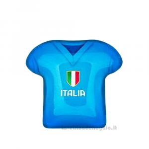 Magnete Maglietta T-Shirt Italia in vetro 5 cm - Bomboniera comunione bimbo