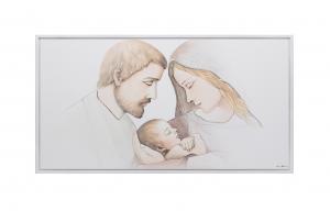 Quadro capoletto Estego con Sacra famiglia Shabby 07152.6