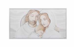 Quadro capoletto Estego con Sacra famiglia Shabby 07156.7