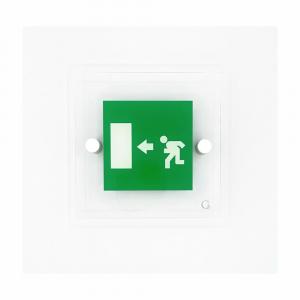 Cartello in plexiglass Avantgarde Uscita di emergenza