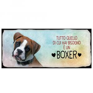 Placca in metallo cane Boxer