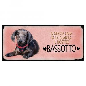 Placca in metallo cane Bassotto