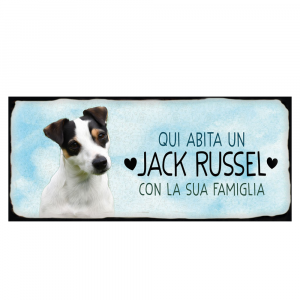 Placca in metallo Jack Russel