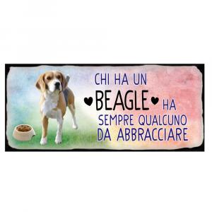 Placca in metallo Beagle