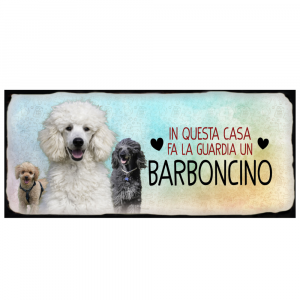 Placca in metallo Barboncino