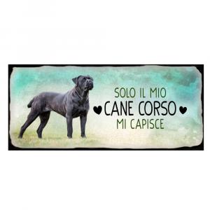Placca in metallo cane Corso