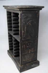 Holder Cd Ethnic In Wood Dark Size 50x37x20