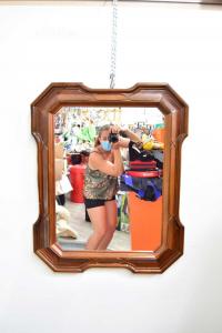 Specchio Con Cornice Legno 68 X 86 Cm