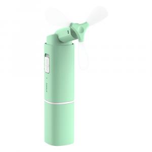 Ventilatore portatile pieghevole + power bank 2000 mAh 2in1 Verde Tiffany