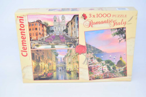 Puzzle Clemetoni Romantic 3x1000 NUOVO