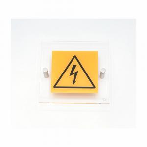Cartello in plexiglass serie Avantgarde Pericolo corrente elettrica