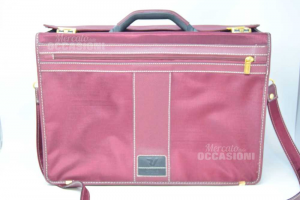 Tracolla Da Viaggio/lavoro In Tela Roncato Color Bordeaux Cod 00 00 45 X 32 X 19 Cm